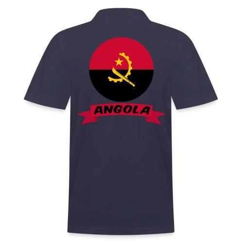 flag of Angola t shirt design ribbon banner - Polo da uomo