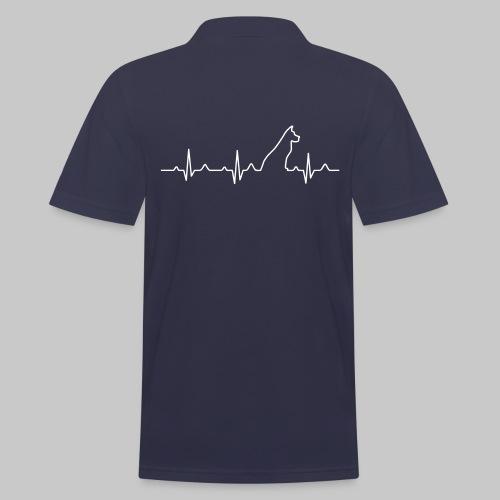 Dog Heartbeat 2 - Männer Poloshirt