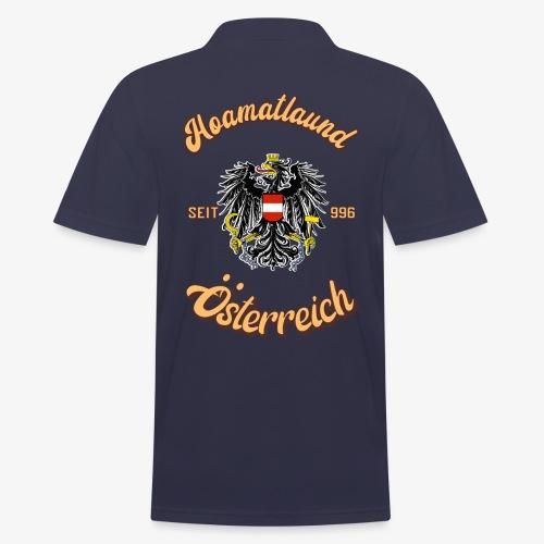 Österreich hoamatlaund retro desígn - Männer Poloshirt