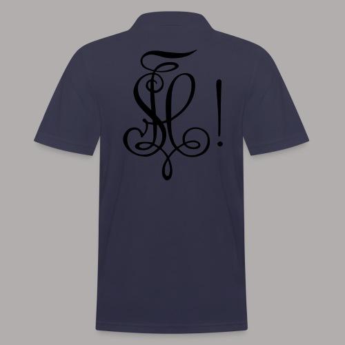 Zirkel, schwarz (hinten) - Männer Poloshirt