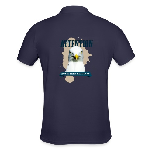 ATTENTION - don't feed seagulls - Männer Poloshirt