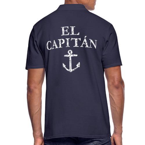 El Capitan Anker (Vintage Weiß) Kapitän Käpt'n - Männer Poloshirt
