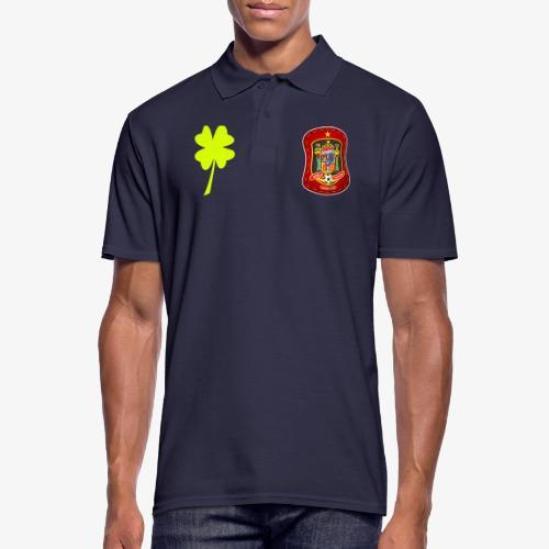 Escudo de la suerte / España / Trébol y banderola - Polo hombre