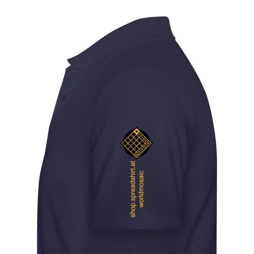 TIAN GREEN Welt Mosaik Shirt - Logo 2020 - Männer Poloshirt