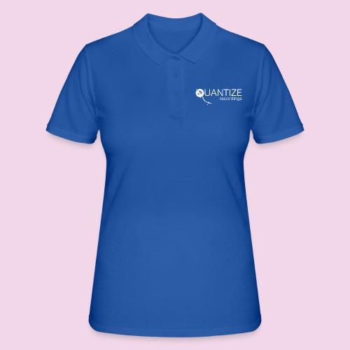 Quantize White Logo - Women's Polo Shirt