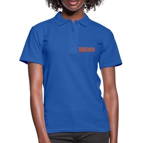 TAGEDIEB - Print in orange - Frauen Polo Shirt