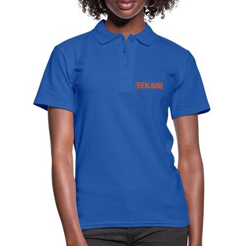 FEIERLAUNE - Print in orange - Frauen Polo Shirt