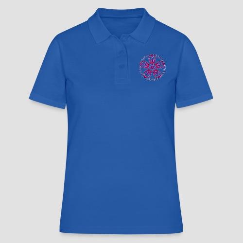 Treble Clef Mandala (red/violet/blue) - Women's Polo Shirt