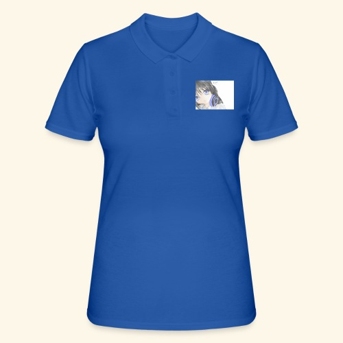 Anime Girl with Headphones - Women's Polo Shirt