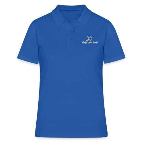 Viaja con Yoel White Logo - Camiseta polo mujer