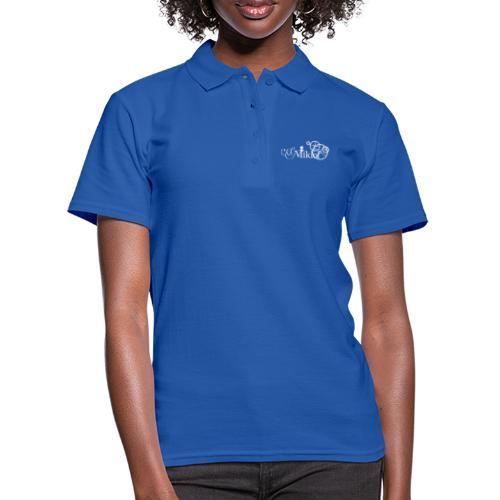 miklof logo white 3000px - Women's Polo Shirt