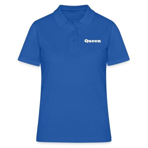 Snapback queen zwart/blauw - Vrouwen poloshirt