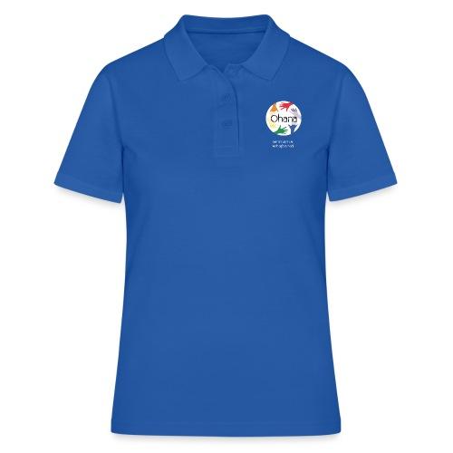 Logo mit weißem Text - Frauen Polo Shirt