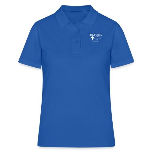 'REFUSE' t-shirt (white) - Women's Polo Shirt