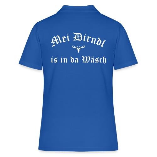 Mei Dirndl is in da Wäsch - Hirsch - Frauen Polo Shirt