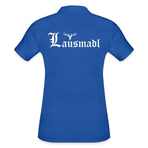 Lausmadl mit Hirsch - Frauen Polo Shirt