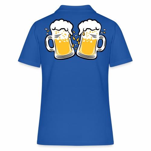 02 Zwei Mass Bier Tropfen 3c - Frauen Polo Shirt