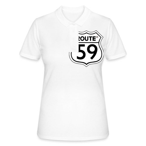 Route 59 zwart wit - Women's Polo Shirt