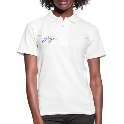 Yoga Balancing Typography And Emblem 3 - Frauen Polo Shirt