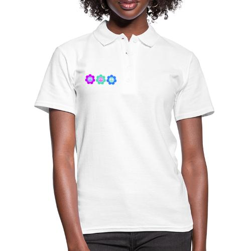 Power Flowers Of Peace Trilogy 2 - Frauen Polo Shirt