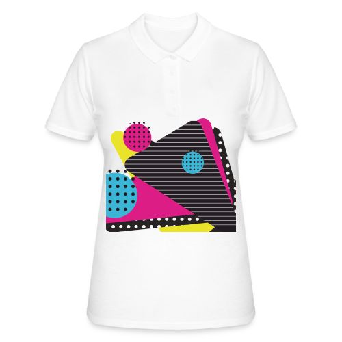 Abstract vintage shapes pink - Women's Polo Shirt