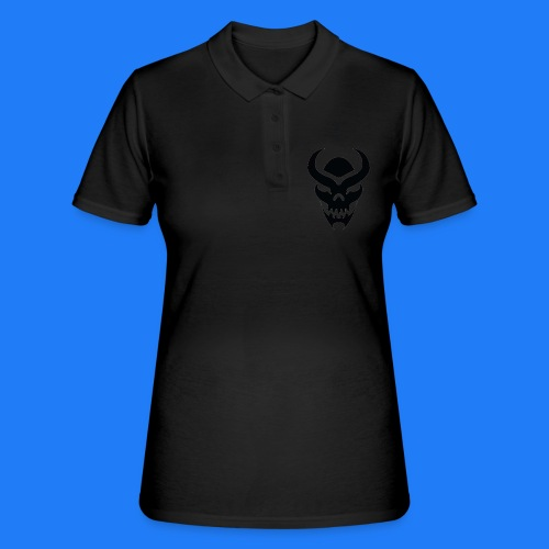 TRIBAL SKULL NOIR - Women's Polo Shirt