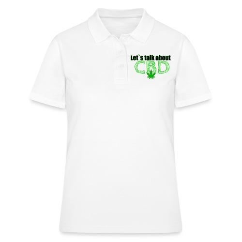 Let´s talk about CBD - Cannabis CBD Öl Merch - Frauen Polo Shirt