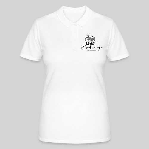 This Girl loves Hockey (black) - Frauen Polo Shirt