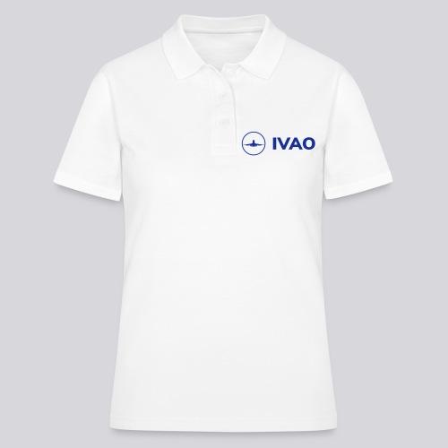 IVAO (Logo bleu complet) - Polo Femme