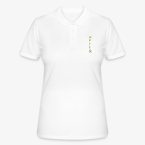 Hallo in Runenschrift - Frauen Polo Shirt