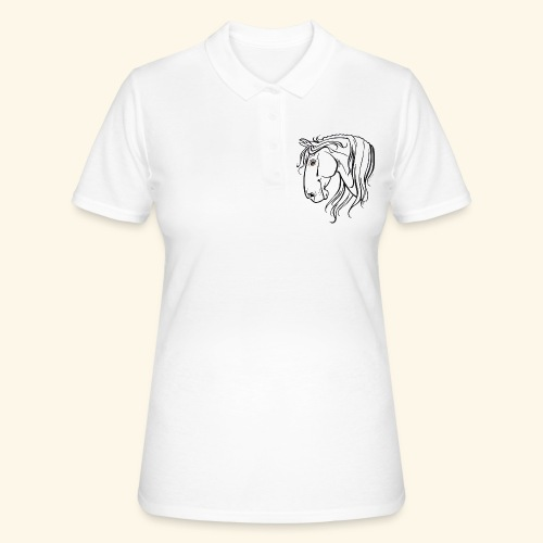 Cheval espagnol (noir) - Women's Polo Shirt