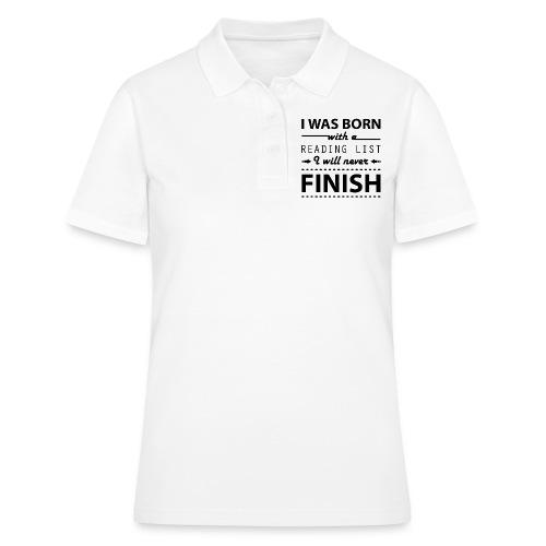 0191 Leseliste | Buch | Buchliebhaber | Bücher - Women's Polo Shirt