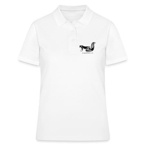 Die Singletrail Snake mit dezenter Web Adresse - Frauen Polo Shirt