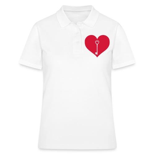 Schlüssel Herz - Frauen Polo Shirt