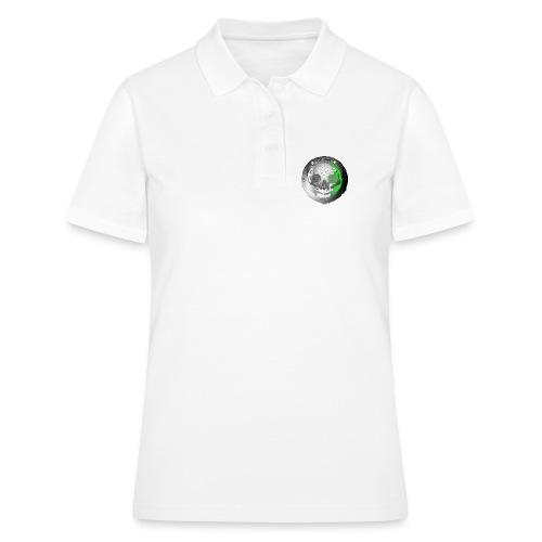 Rigormortiz Metallic Silver-Green Design - Women's Polo Shirt
