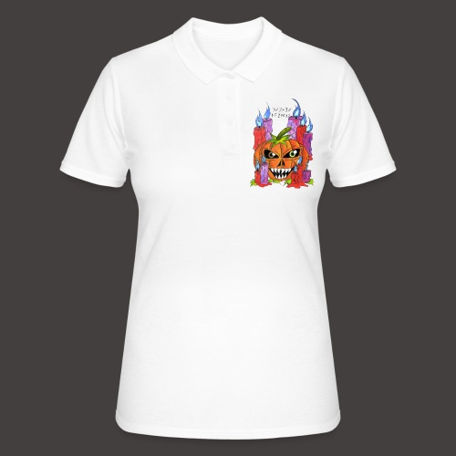 CANDLE PUMPKIN - Women's Polo Shirt