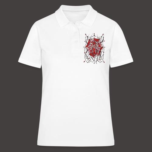 Spider Dentelle Red - Women's Polo Shirt