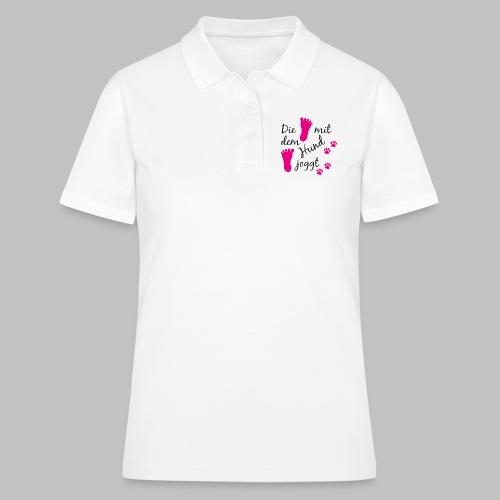 Die mit dem Hund joggt - Pink Edition - Frauen Polo Shirt
