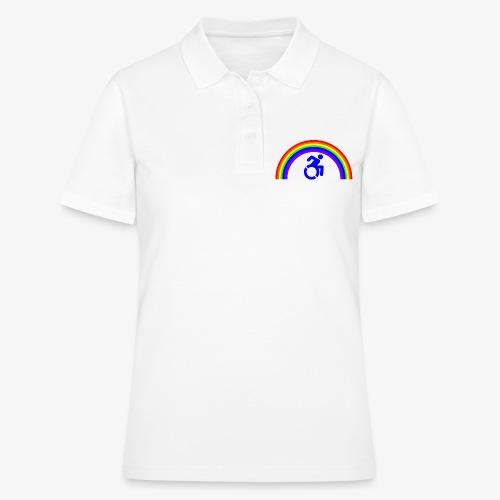 > Trotse rolstoel gebruiker met regenboog, lgbt - Women's Polo Shirt