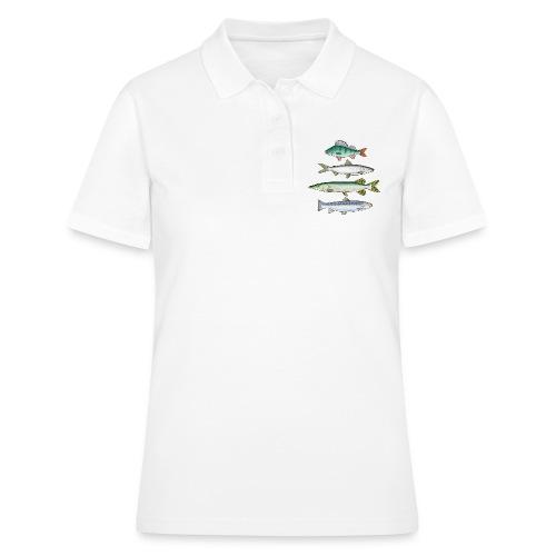 FOUR FISH - Ahven, siika, hauki ja taimen tuotteet - Women's Polo Shirt