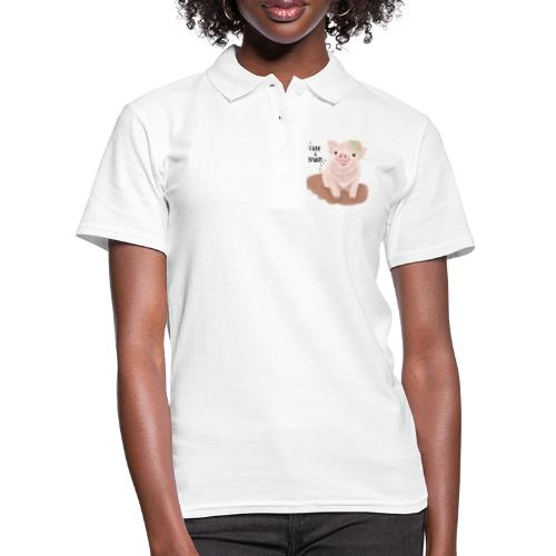 Cute & Smart Pig - Women's Polo Shirt