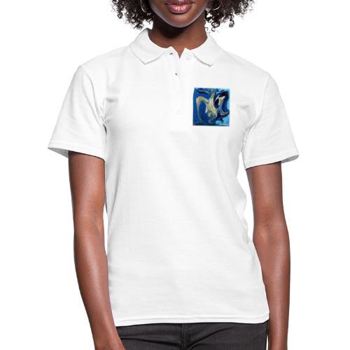 TIAN GREEN Welt Mosaik - AT042 Blue Passion - Frauen Polo Shirt