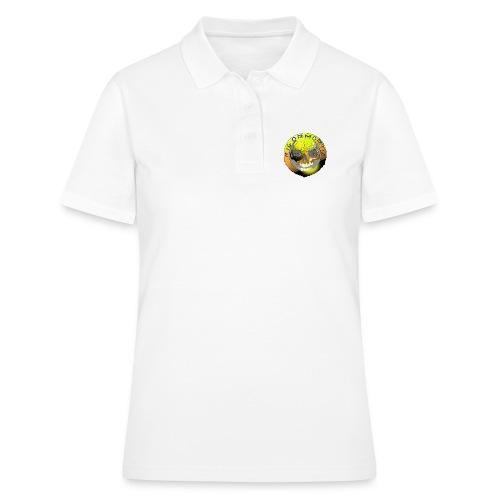 Rigormortiz Metallic Yellow Orange Design - Women's Polo Shirt