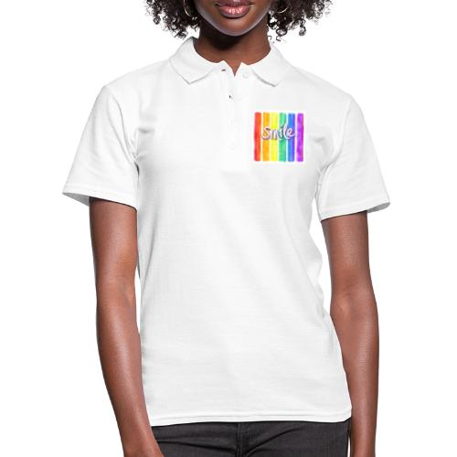 smile rainbow - Frauen Polo Shirt