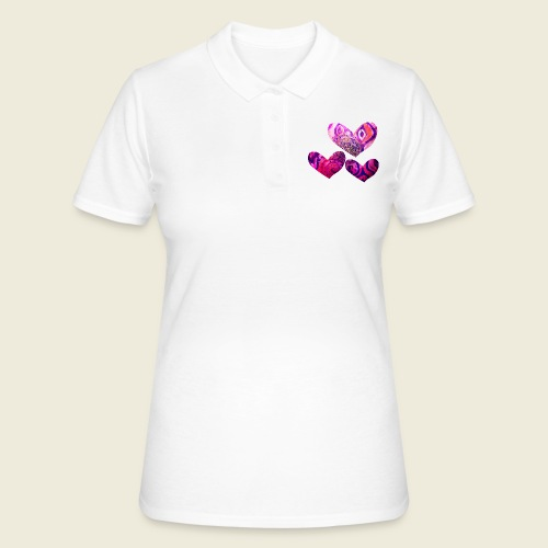 Traumhafte Herzen in pink - Frauen Polo Shirt