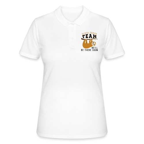 Sloth Track Team We'll Be There Soon - Frauen Polo Shirt