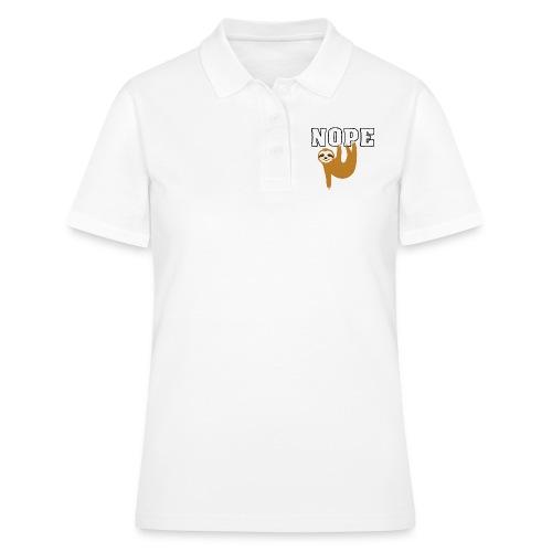 Nope Funny Sloth Fan - Frauen Polo Shirt