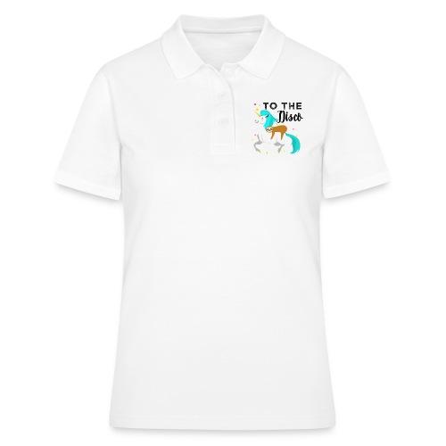 Funny Sloth Riding Unicorn - Frauen Polo Shirt