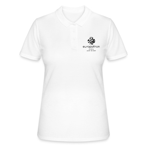 EuroPython 2020 - Vertical Black Logo - Women's Polo Shirt