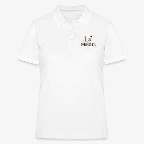 I shit on School - Frauen Polo Shirt